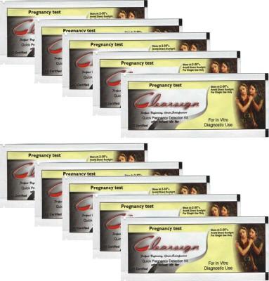 Recombigen Clear Sign HCG test strip Pack of 10pcs. pregnancy test kit Pregnancy Test Kit(10 Tests)  available at flipkart for Rs.350