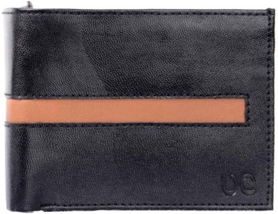 Uni Carress Men Black, Tan Artificial Leather Wallet(6 Card Slots)  available at flipkart for Rs.125
