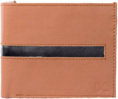 Uni Carress Men Black, Tan Artificial Leather Wallet(6 Card Slots)  available at flipkart for Rs.145