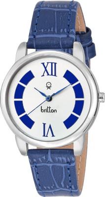 Britton BR-LR080-WHT-BLU  Analog Watch For Women