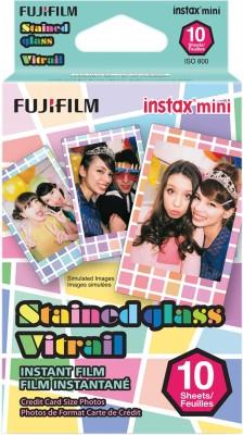 Fujifilm Stained Glass Instax Mini 10 Sheet Pack Film Roll