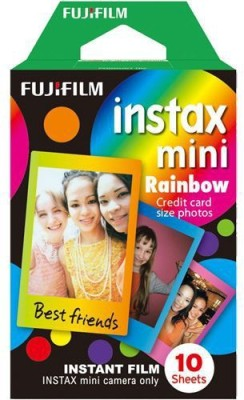 Fujifilm Rainbow Instax Mini 10 Sheet Pack Film Roll