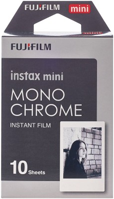 Fuji Monochrome Instax Mini 10 Sheet Pack Film Roll Yes 800 ISO Pack of 10