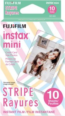 Fujifilm Stripe Instax Mini 10 Sheet Pack Film Roll