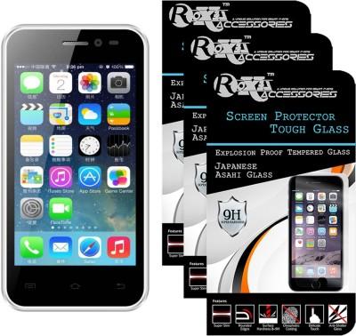 Roxel Tempered Glass Guard for Intex Aqua 3G Plus(Pack of 3)