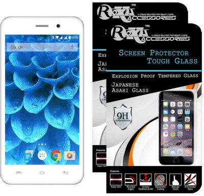 Roxel Tempered Glass Guard for Lava Iris Atom 3(Pack of 2)