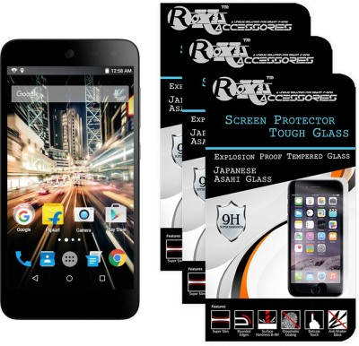 Roxel Tempered Glass Guard for Micromax Canvas Amaze 2 E457(Pack of 3)