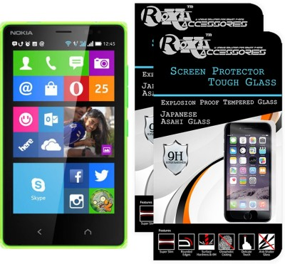 Roxel Tempered Glass Guard for Nokia X2 Dual Sim(Pack of 2)