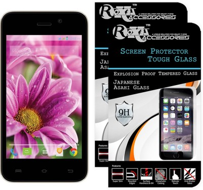 Roxel Tempered Glass Guard for Lava Iris X1 Atom 4GB(Pack of 2)