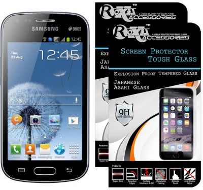 Roxel Tempered Glass Guard for Samsung Galaxy S Duos GT-S7562(Pack of 2)