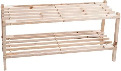 KridhaCart Bamboo Shoe Stand(2 Shelves)