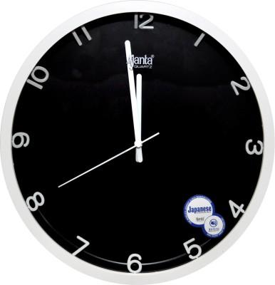 Ajanta Analog 28 cm X 28 cm Wall Clock(White, With Glass)
