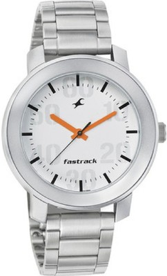 Image of Fastrack upgrades white dial Analog Watch - For Men