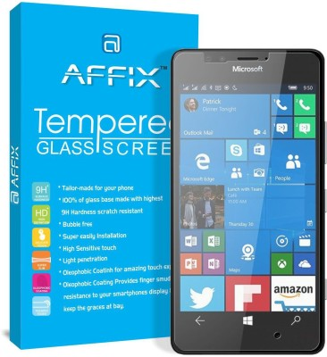 """Affix Tempered Glass Guard for Microsoft Lumia 950 (5.2\"""" Inch Display)(Pack of 1)"""