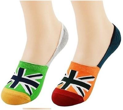 Hind Home Men's & Women's Self Design Ankle Length Socks(Pack of 2)