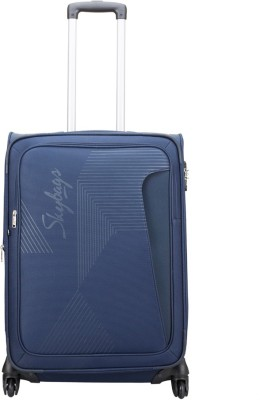 Skybags Footloose Hamilton Expandable  Check-in Luggage - 26 inch(Blue) at flipkart