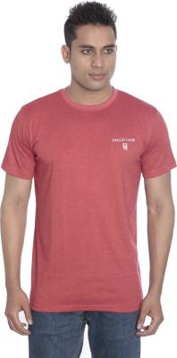 Hillisi Gare Solid Men's Round Neck Red T-Shirt