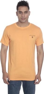 Hillisi Gare Solid Men's Round Neck Orange T-Shirt