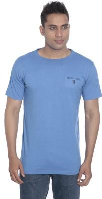 Hillisi Gare Solid Men's Round Neck Light Blue T-Shirt