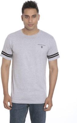 Hillisi Gare Solid Men's Round Neck Grey T-Shirt