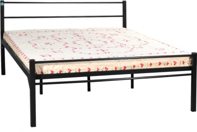 Delite Kom Oris Black Metal Queen Bed(Finish Color -  Black)