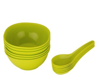 Jaypee Le Dinner Set Soup Bowl Plain, Green Pack of 12 Dinner Set(Polypropylene)  available at flipkart for Rs.189