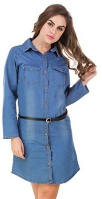 oneOeightdesigns Women Shirt Dark Blue Dress