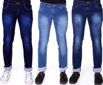 FabTag - Ragzo Slim Men Multicolor Jeans(Pack of 3)