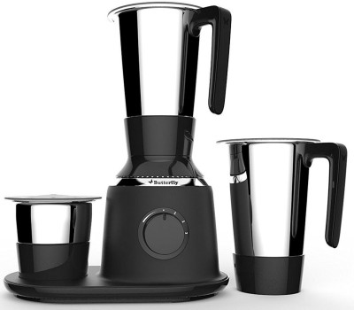 Butterfly SPECTRA 3 JAR BLACK 750 W Mixer Grinder(Black, 3 Jars)