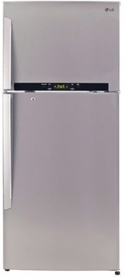 LG 470 L Frost Free Double Door 4 Star Refrigerator(Noble Steel, GL-T522GNSX)
