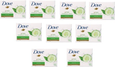 Dove Imported (Made In EU) Go Fresh Fresh Moisturizing Beauty Cream Bar(135 g, Pack of 9)