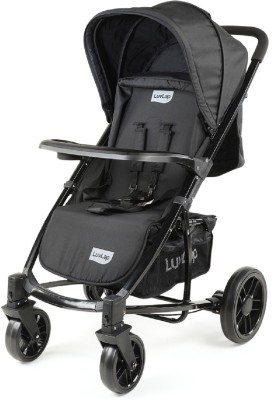 LuvLap Elite Baby Pram Stroller - Black Stroller(3, Black)