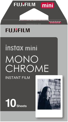 Fujifilm Instax Mini Film set  Twin Pack Film   20   + Film Monochrome   10   + Cleaning Cloth + Stickers 20 Film Roll Yes 800 ISO Pack of 3