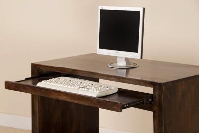 The Attic Solid Wood Computer Desk(Straight, Finish Color - Dark Walnut)