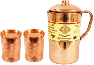 IndianArtVilla IAV CCB DW 1092 Jug Glass Set Copper IndianArtVilla Lemon Sets