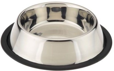 Pets Empire Round Steel Pet Bowl(900 ml Silver)