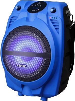 QFX PBX-710700BTL-BLU Bluetooth Home Audio Speaker(Blue, NA Channel)