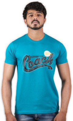 Outfit Style Forever Printed Men Round Neck Blue T-Shirt