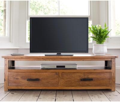 The Attic Sicily Sheesham Solid Wood TV Entertainment Unit(Finish Color - Honey)