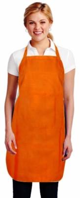 Supreme Home Collective Cotton Chef's Apron - Free Size(Orange, Single Piece)