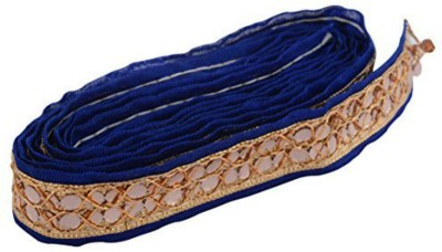 GOELX AM Fabric Fashion Zari Blue Lace for dress/sarees/blouses,suits,caps/bags/decorations/ borders, crafts, any many more. Pack of 2 meters  available at flipkart for Rs.249
