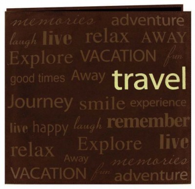 Pioneer 12-Inch12-Inch Text Faux Suede Scrapbook, Travel