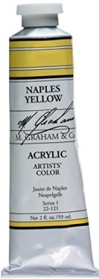 M Graham & Co M. 2 Ounce Tube Acrylic Paint, Naples Hue  available at flipkart for Rs.1759