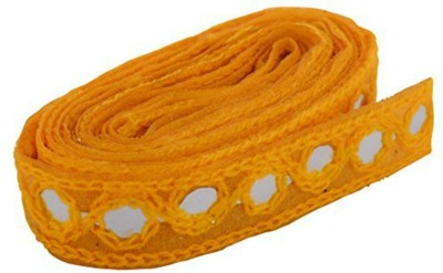GOELX AM Fashion Mirror Laces in Yellow Color for dress/sarees/caps/bags/decorations/ borders, crafts, any many more.. pack of 2 meters  available at flipkart for Rs.249