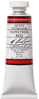 M Graham & Co M. 1/2 Ounce Tube Watercolor Paint, Naphthol  available at flipkart for Rs.1755