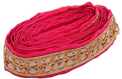 GOELX AM Fabric Fashion Zari Lace Pink for dress/sarees/blouses,suits,caps/bags/decorations/ borders, crafts, any many more..Pack of 2 meters  available at flipkart for Rs.249