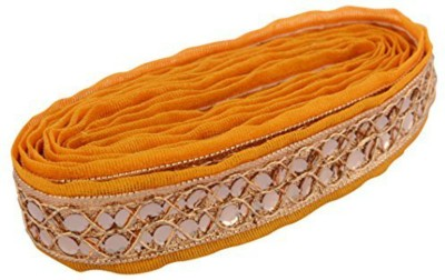 GOELX AM Fabric Fashion Zari Lace Yellow for dress/sarees/blouses,suits,caps/bags/decorations/ borders, crafts, any many more..Pack of 2 meters (View amazon detail page)  available at flipkart for Rs.249
