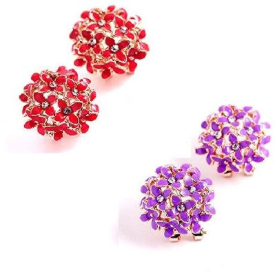 Shimmer Divine Luxuria Cubic Zirconia Copper Stud Earring Shimmer Divine Earrings