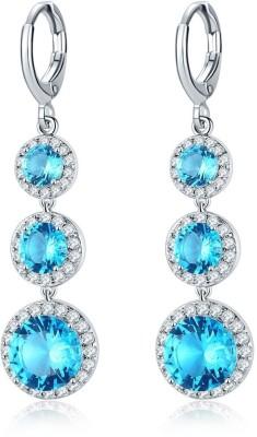 Shimmer Divine Luxuria Crystal Copper Drops   Danglers Shimmer Divine Earrings