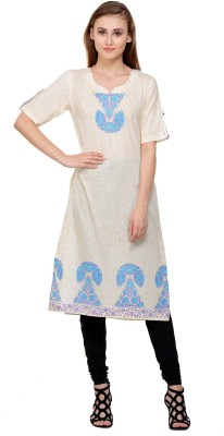 Indiankalakari.com Casual Block Print Women Kurti(Multicolor)